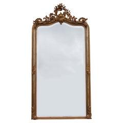 French Gilt Pier Gold Framed Mirror
