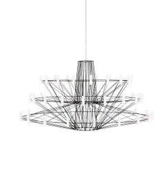 Moooi Coppélia Large Matte Black LED Suspension Light Fixture with 54 Lamps