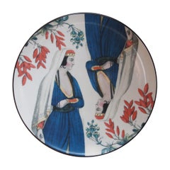 Sultan's Journey Valide Porcelain Plate by Patch NYC for Les-Ottomans