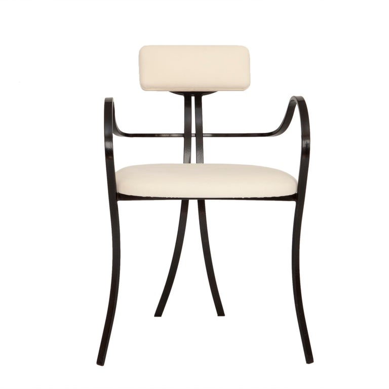 Contemporary Violet Chair with Velvet Seat and Seatback in White Color For Sale