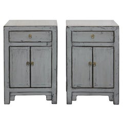 Gray One Drawer Side Chest