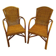 Set of Four Rattan Garden Chairs