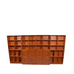 Mogens Koch Oregon Pine Bookcase or Wall Unit for Rud Rasmussen