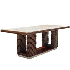 Italian Dining Table with Marble Top