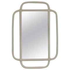Midcentury Bent Bamboo Wall Mirror