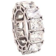 David Webb Platinum Diamond Eternity Band Ring 13.79 Carat 'GIA' VVS1, VS1