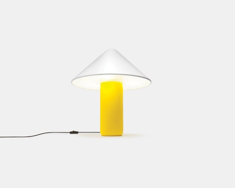Modern Established & Sons Topp Lamp in Yellow with White Shade by Hallgeir Homstvedt For Sale
