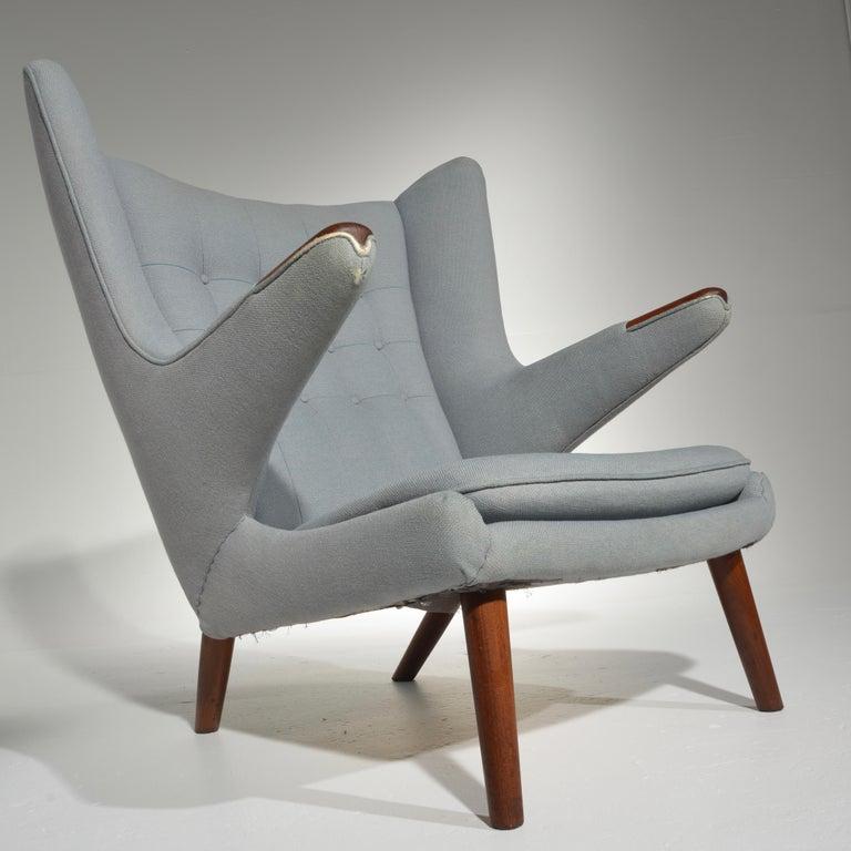 Scandinavian Modern Papa Bear Chair, Model AP 19, by Hans J. Wegner for A.P. Møbler