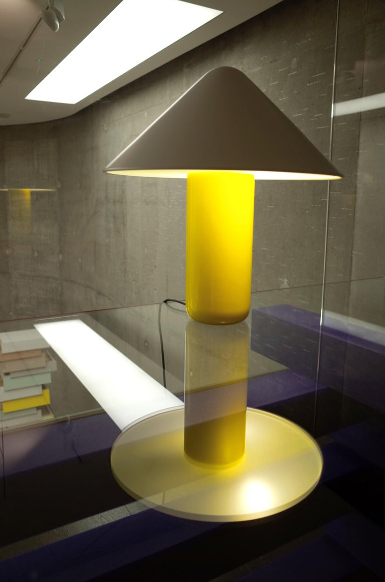 European Established & Sons Topp Lamp in Yellow with White Shade by Hallgeir Homstvedt For Sale