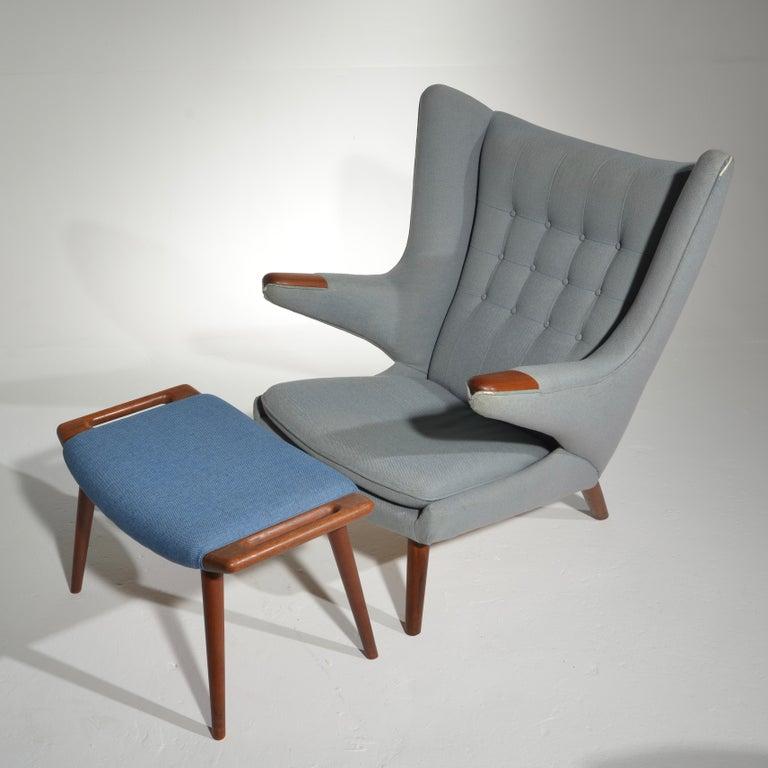 Upholstery Papa Bear Chair, Model AP 19, by Hans J. Wegner for A.P. Møbler
