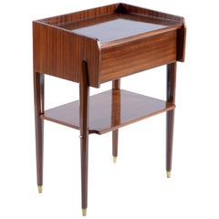 Pier Luigi Spadolini Midcentury Pair of Italian Nightstands or Side Tables