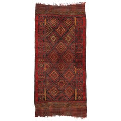 Vintage Berber Moroccan Long Rug with Tribal Style, Berber Moroccan Carpet