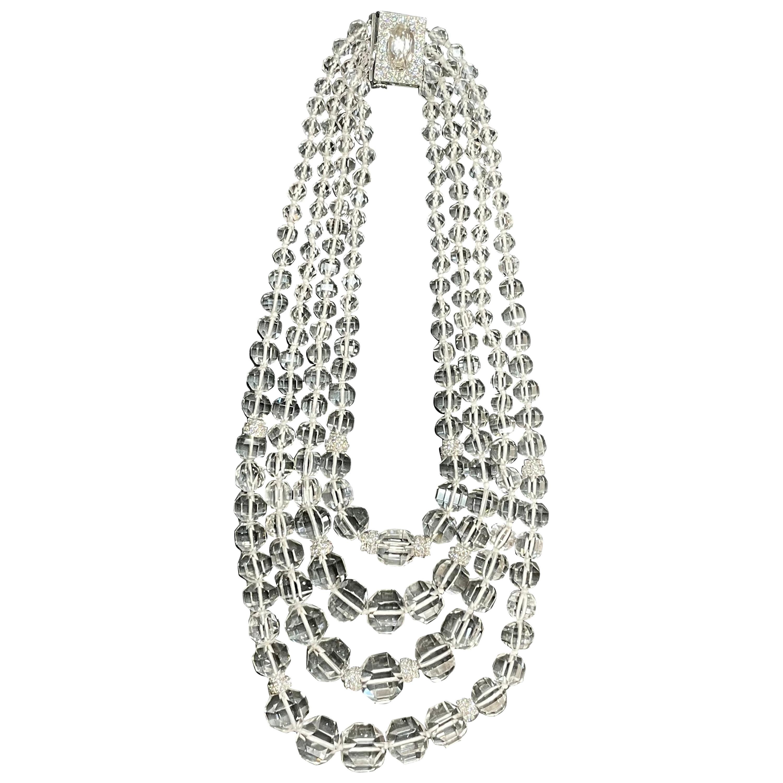 David Webb Rock Crystal Necklace
