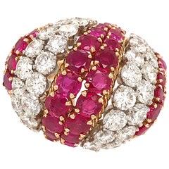 David Webb Ruby and Diamond Vintage Ring