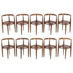 Set of Ten Danish Modern Dining Chairs