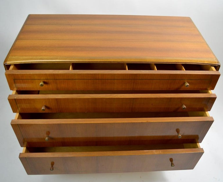 Mid Century  Chest Probably Italian after Ponti For Sale 5