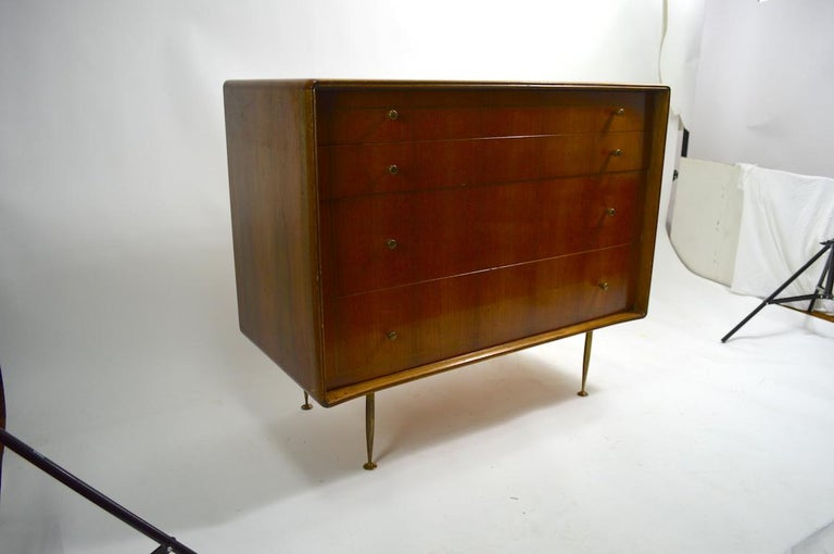 Mid Century  Chest Probably Italian after Ponti For Sale 6