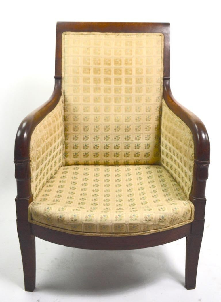 19th Century Empire Tub Chair For Sale 6