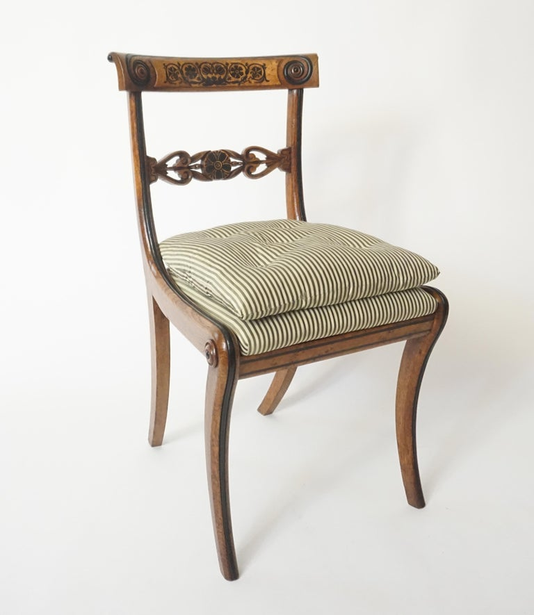 Chairs by George Bullock, Set of 4, England, 1816 For Sale 5