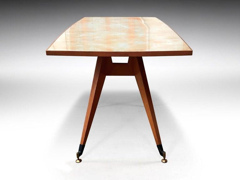 Italian Mid-Century Geometric Dining Table, 1950s For Sale 7