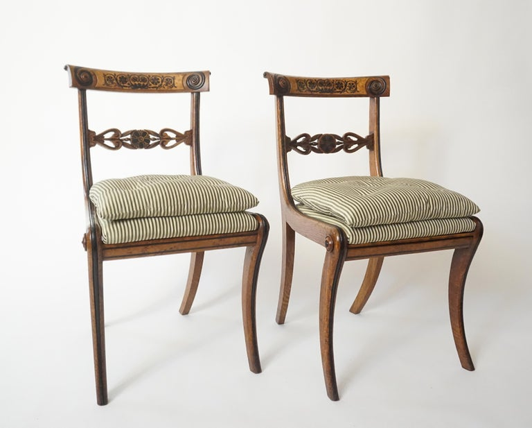 Chairs by George Bullock, Set of 4, England, 1816 For Sale 6