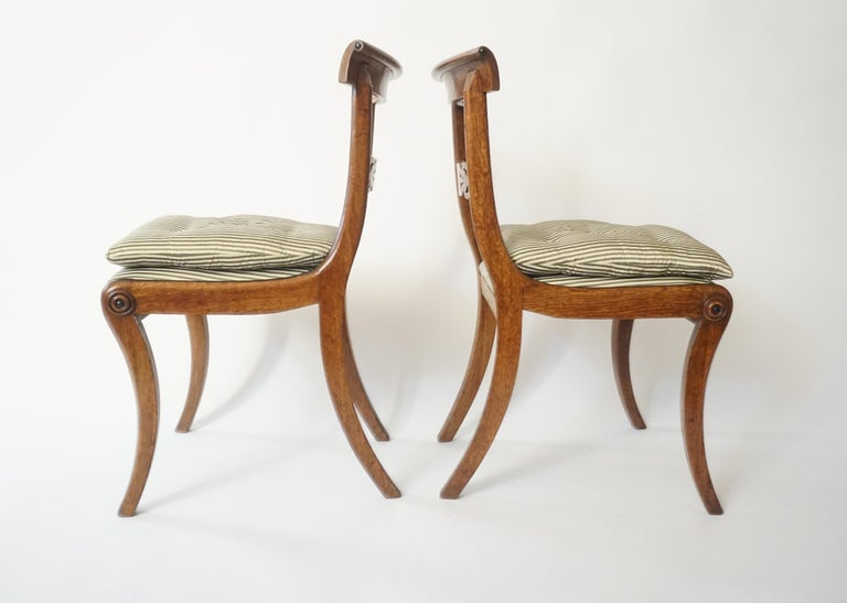 Regency Chairs by George Bullock, Set of 4, England, 1816 For Sale