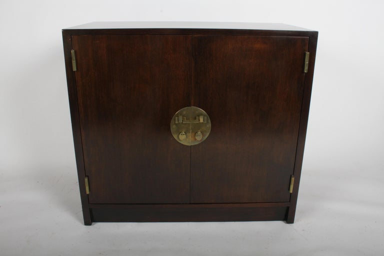 Mid Century Modern Edward J Wormley For Dunbar Cabinet With Asian Hardware