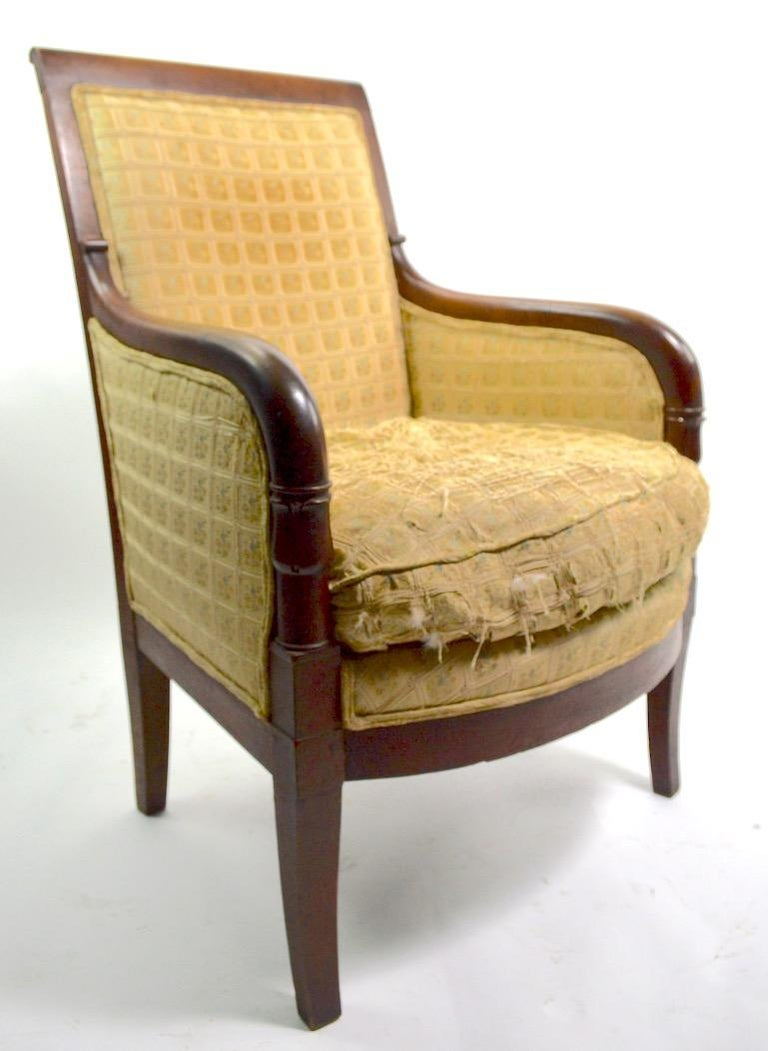 American Empire 19th Century Empire Tub Chair For Sale