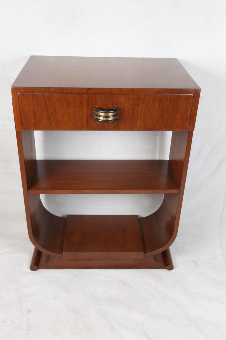 Pair of Mid-Century Modern Teak Side Tables In Good Condition For Sale In Nantucket, MA