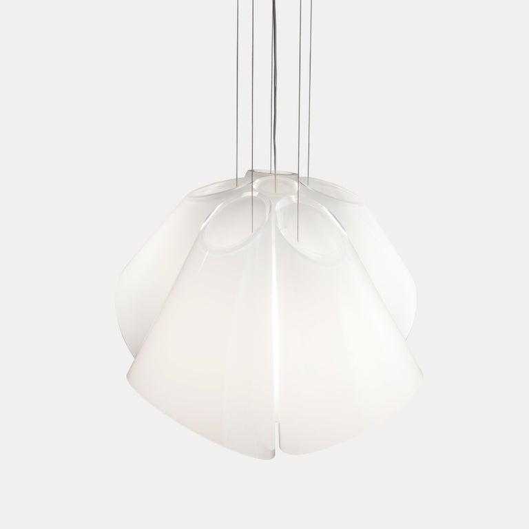 European Established & Sons Superconic White Pendant Light by Matali Crasset For Sale