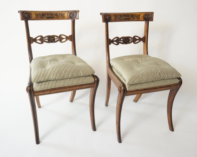 English Chairs by George Bullock, Set of 4, England, 1816 For Sale