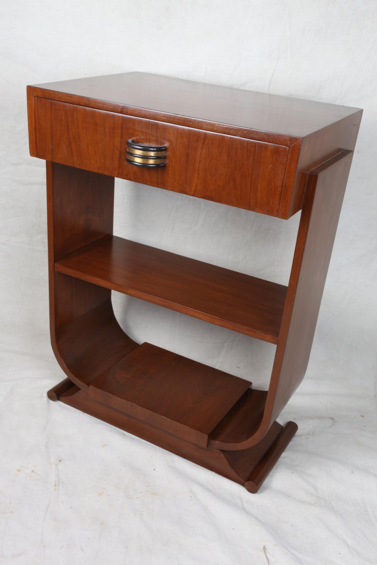 20th Century Pair of Mid-Century Modern Teak Side Tables For Sale