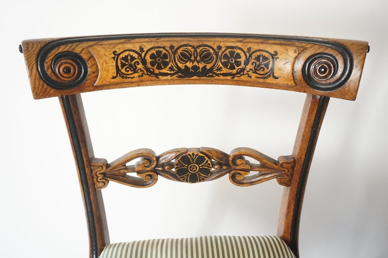 Hand-Carved Chairs by George Bullock, Set of 4, England, 1816 For Sale