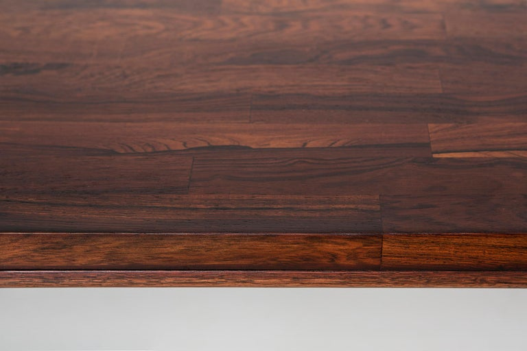 Milo Baughman Rosewood and Chrome Campaign Desk In Excellent Condition For Sale In Chicago, IL