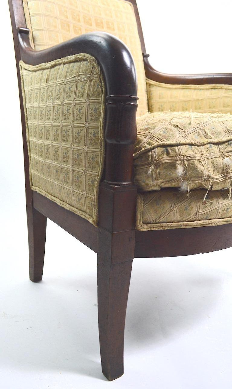 Upholstery 19th Century Empire Tub Chair For Sale