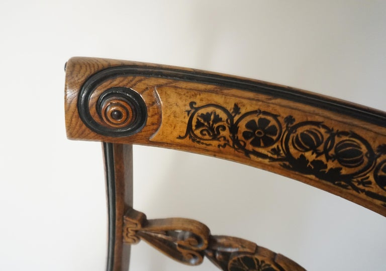19th Century Chairs by George Bullock, Set of 4, England, 1816 For Sale