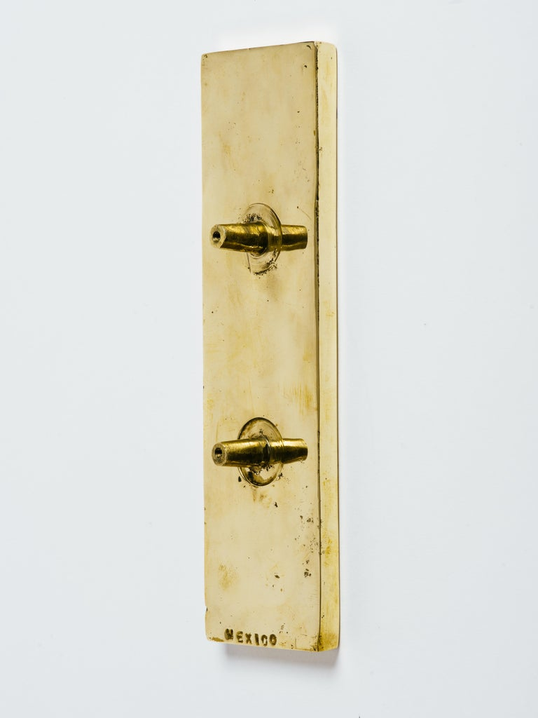 20th Century Pepe Mendoza Brass and Inlaid Stone Door Handle For Sale