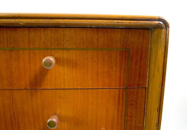 Mid Century  Chest Probably Italian after Ponti For Sale 3