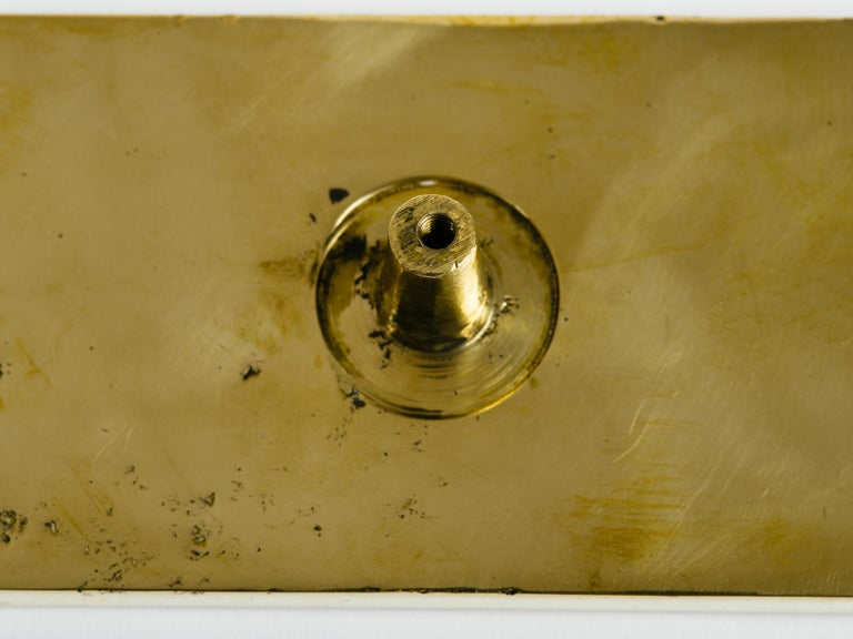 Pepe Mendoza Brass and Inlaid Stone Door Handle For Sale 2