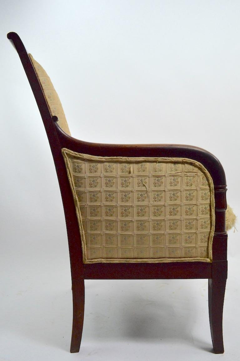 19th Century Empire Tub Chair For Sale 3