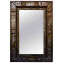 Italian Reverse Painted Glass Mirror