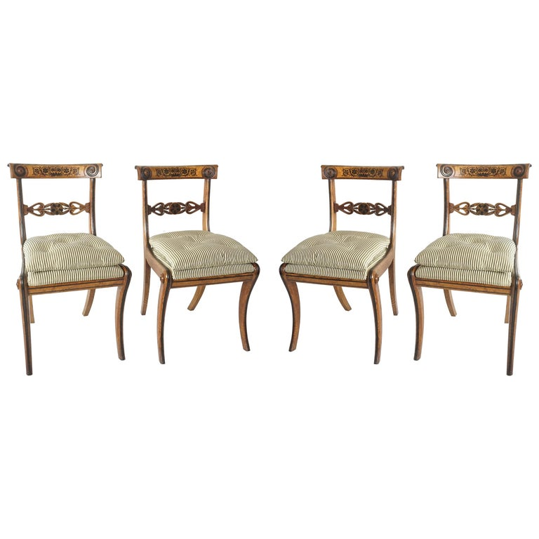 Chairs by George Bullock, Set of 4, England, 1816 For Sale