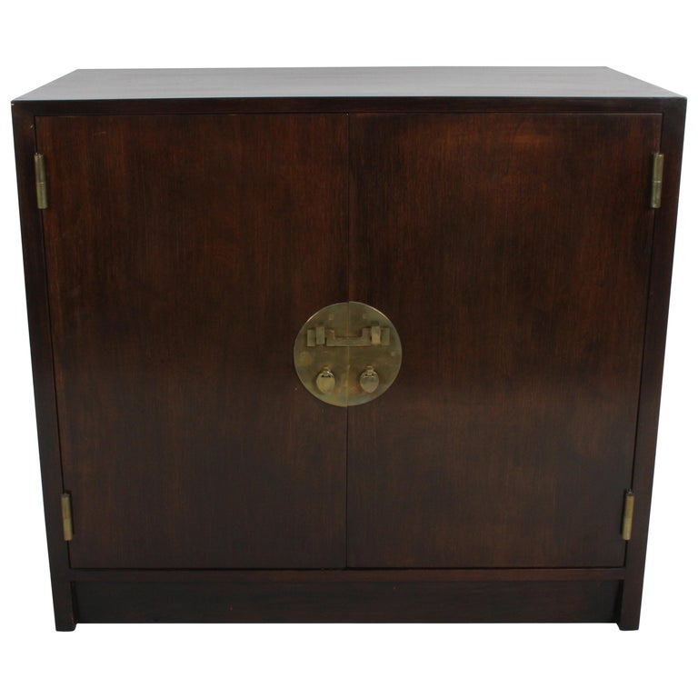 Edward J Wormley For Dunbar Cabinet With Asian Hardware
