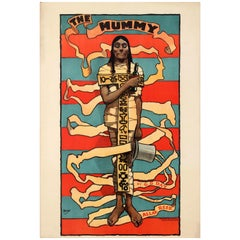 Original Antique Poster for the Mummy a Comedy Play by George Day and Allan Reed
