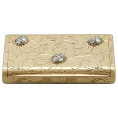 1950s French Yellow Gold and Diamond Box by Van Cleef & Arpels