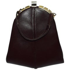 Art Deco 1930s Brown Leather Handbag