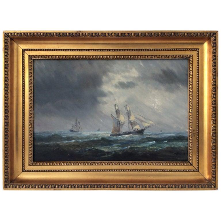 Painting Marine style of Carl Frederik Sørensen
