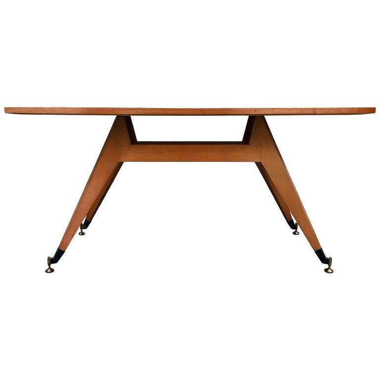 Italian Mid-Century Geometric Dining Table, 1950s For Sale