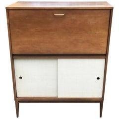 Mid Century Paul McCobb Drop Lid Desk with Storage Cabinet, 1950s