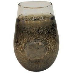 Vintage Fossil Art Glass Vase by Kjell Engman for Kosta Boda